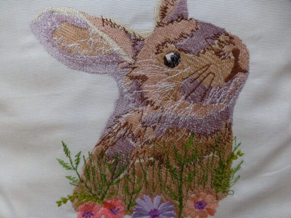 Embroidered Rabbit Cushion Cover - product image 3