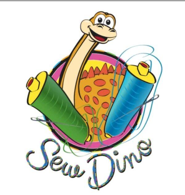 Sew Dino shop logo