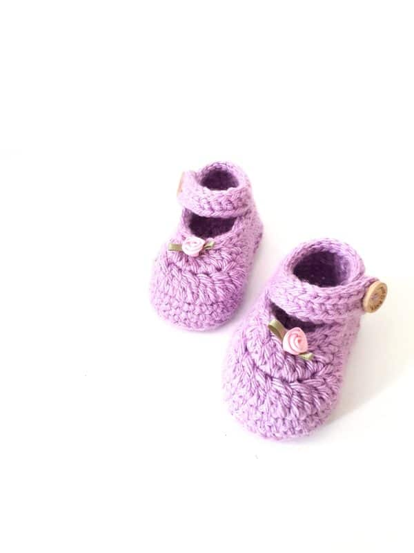 Newborn Mary Jane Shoes in Purple - product image 2
