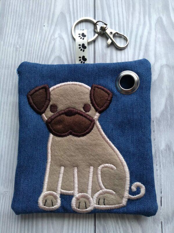 Personalized Pug Dog Poo Bag Holder, personalised dog gifts - product image 2