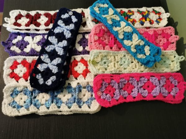 Crochet cup cosys - main product image
