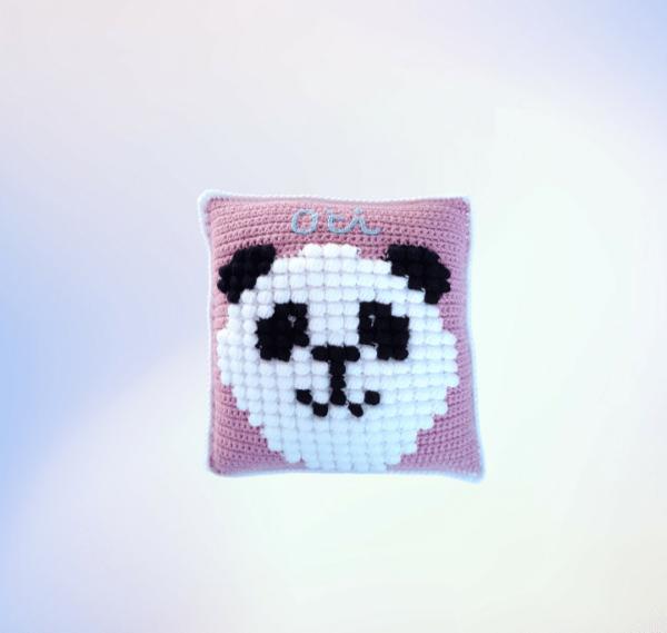 Panda Puff Pillow - main product image