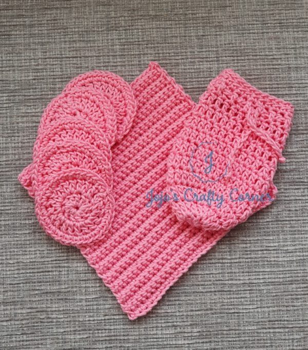 Mothers day gift Bath/Spa set washcloth, scrubbies, soap saver - main product image