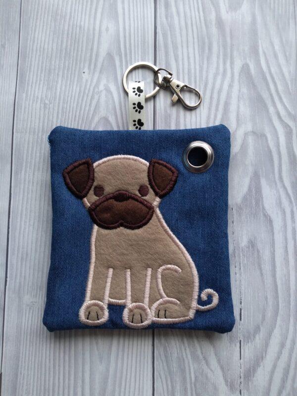 Personalized Pug Dog Poo Bag Holder, personalised dog gifts - main product image