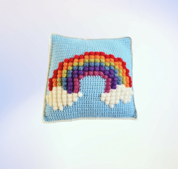 Rainbow Puff Blanket and Pillow Matching Set - product image 3