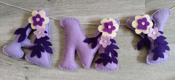 Girls bedroom bunting - main product image