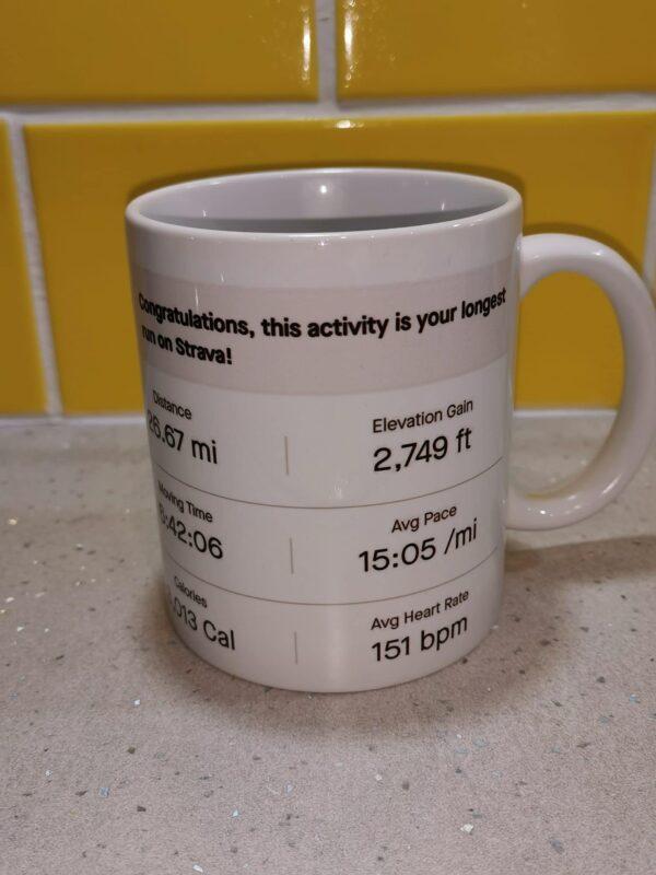 Personalised Strava activity mug and coaster - product image 3