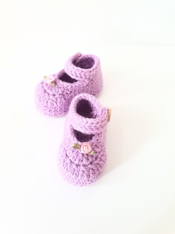 Newborn Mary Jane Shoes in Purple - main product image