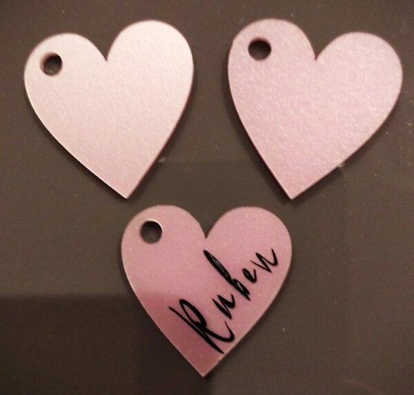 Pink heart keyring set - product image 4