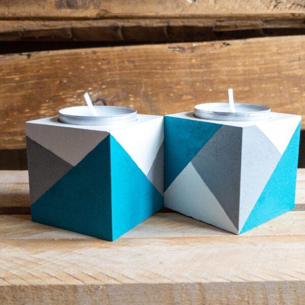 Colour block tea lights holders - product image 6