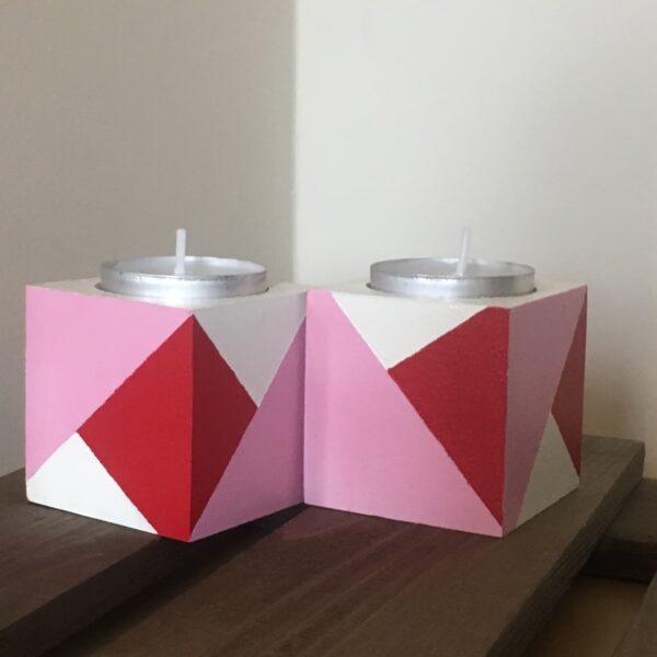 Colour block tea lights holders - product image 5