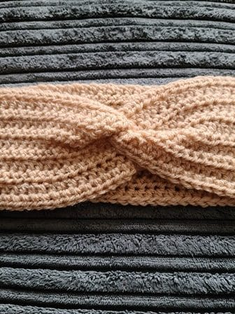 Handmade Crochet Faux Knot Earwarmer - product image 3