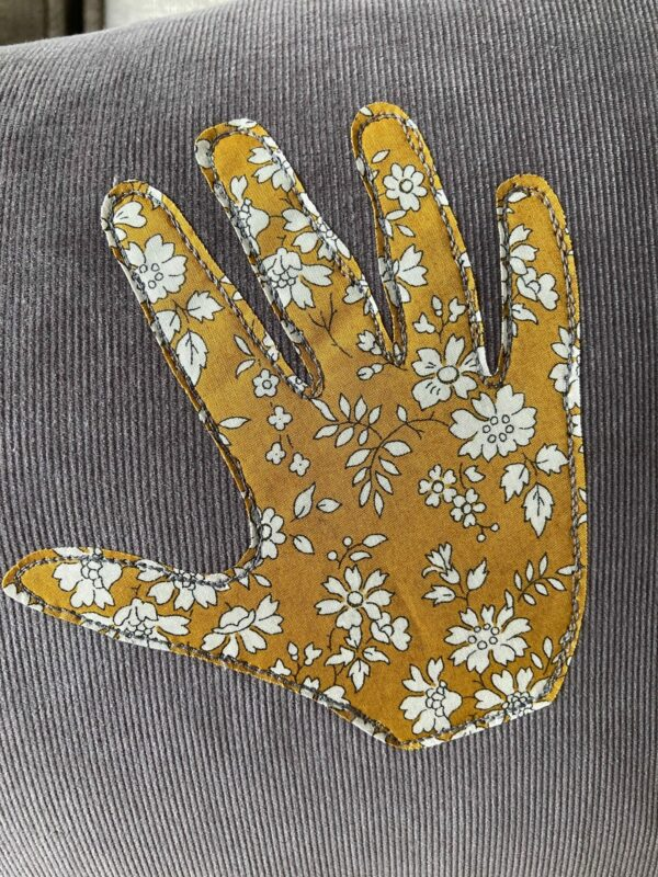 Personalised Liberty Handprint Cushion – 40 x 65cm - product image 4