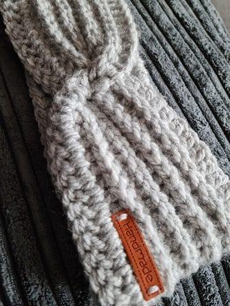 Handmade Crochet Ribbed Faux Knot Earwarmer - product image 2