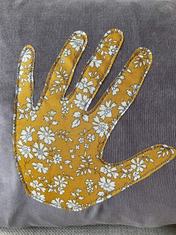 Personalised Liberty Handprint Cushion – 40 x 65cm - product image 3