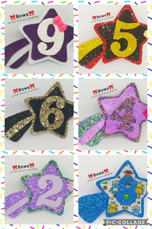 Shooting star birthday badge - main product image