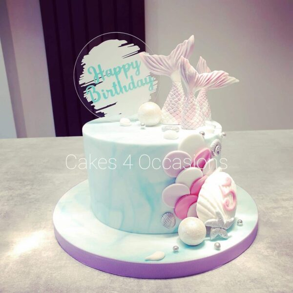 Personalised Acrylic Cake Topper - main product image