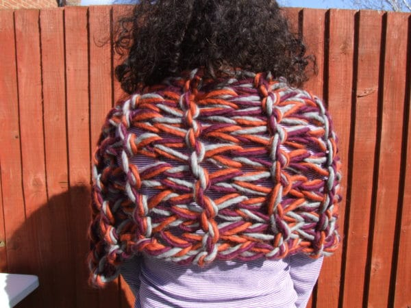 100% Peruvian Highland wool arm knitted shrug/stole/cover up - product image 5