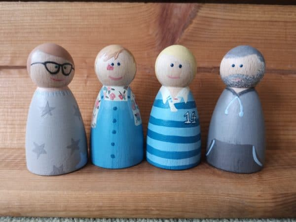 Custom Order – Hand painted Peg Doll Wooden Figure - product image 3