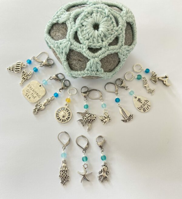 Seaside Themed Stitch Markers - main product image