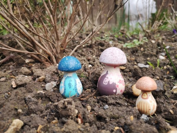 Magical Mushrooms – Hand painted Pegshrooms Wooden Garden Home Decoration - product image 2