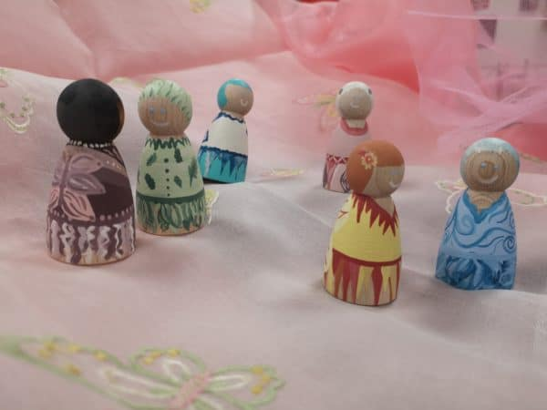 Playful Pixies – Hand painted Peg Doll Wooden Figures - product image 4