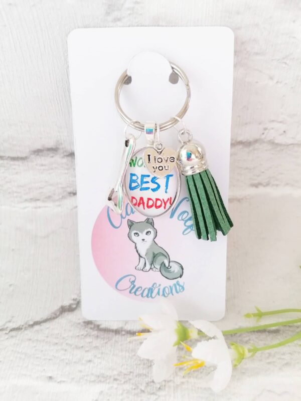 World's best daddy keyring - main product image