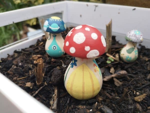 Magical Mushrooms – Hand painted Pegshrooms Wooden Garden Home Decoration - product image 4