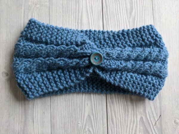 Hand Knitted Headband, Ladies Ear warmers, Ladies Knitted Headband, Warm winter Knit Headband - product image 2