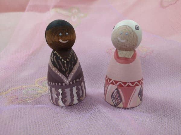 Playful Pixies – Hand painted Peg Doll Wooden Figures - product image 3