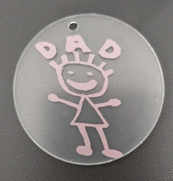 Personalised Childs Drawing Keyring - main product image