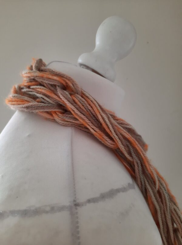 Arm knitted organic wool/baby Alpaca & Mohair silk mix I cord skinny scarf - product image 3