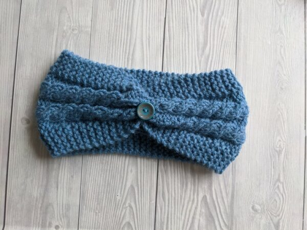 Hand Knitted Headband, Ladies Ear warmers, Ladies Knitted Headband, Warm winter Knit Headband - main product image