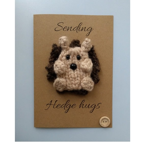 Knitted Hedgehog card - main product image