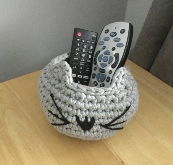 Hand Crocheted Cat Bowl - product image 4