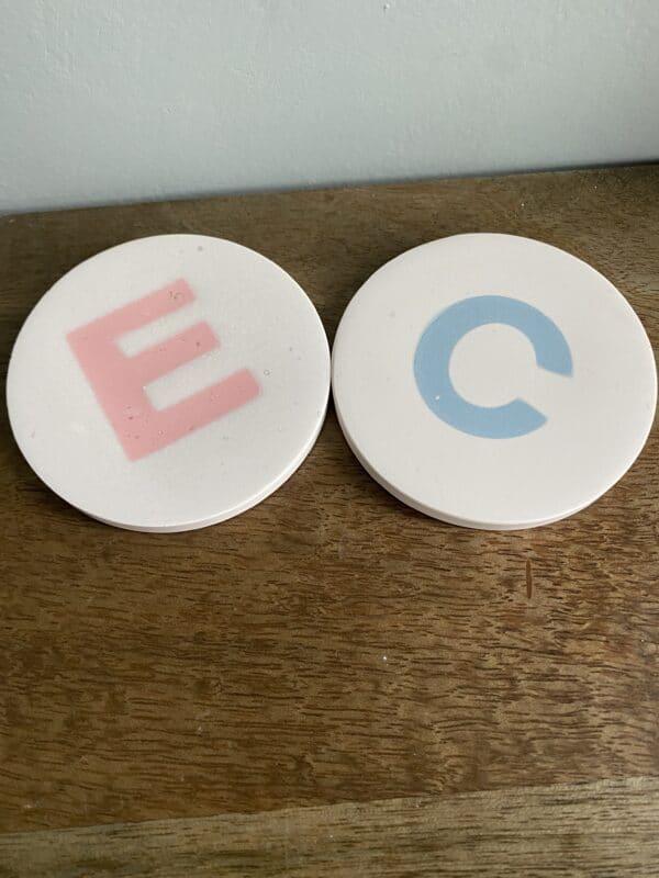 Personalised Custom Letter Coaster - main product image