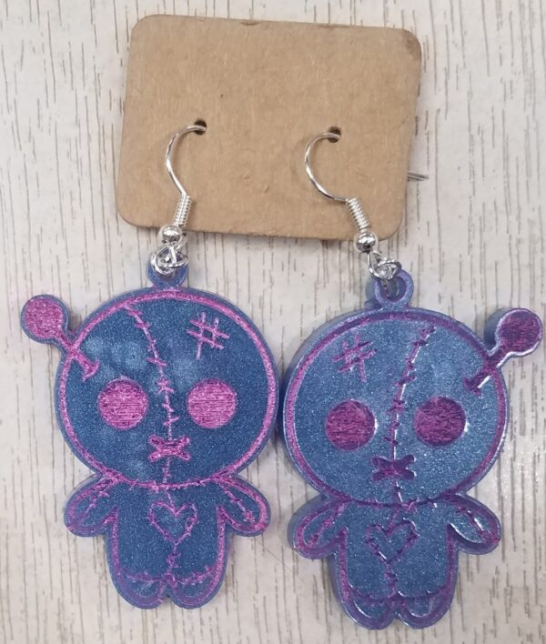Cute voodoo doll earrings - main product image