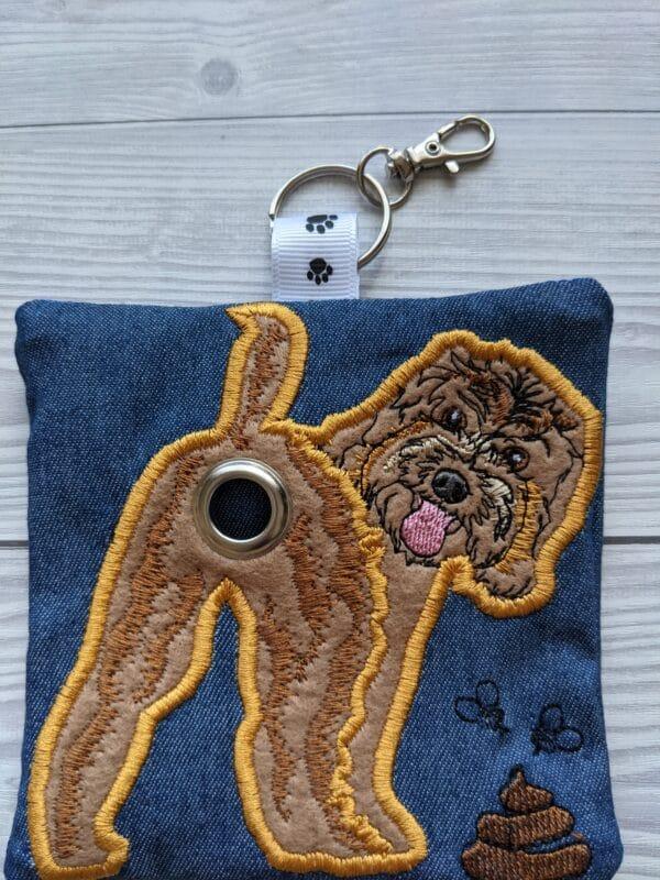 Cockapoo dog poo bag roll holder, dog walkies bag, dog gifts - product image 2