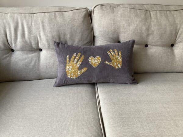 Personalised Liberty Handprint Cushion – 40 x 65cm - product image 6