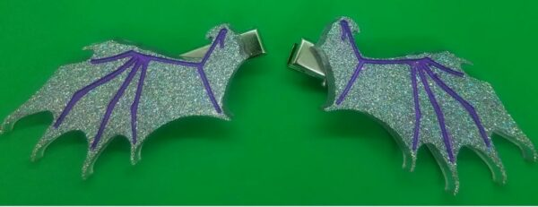 Bat/Dragon/Demon hairclips - main product image