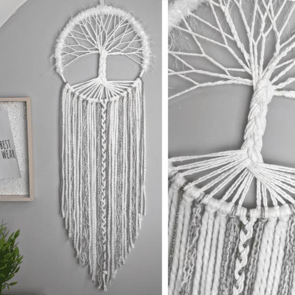 Tree Of Life, Dream Catcher, Handmade, Boho, Decor, Wall Hanging, Dreamcatcher, - main product image