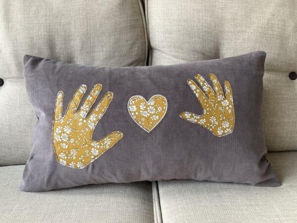 Personalised Liberty Handprint Cushion – 40 x 65cm - main product image