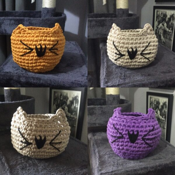 Hand Crocheted Cat Bowl - product image 3