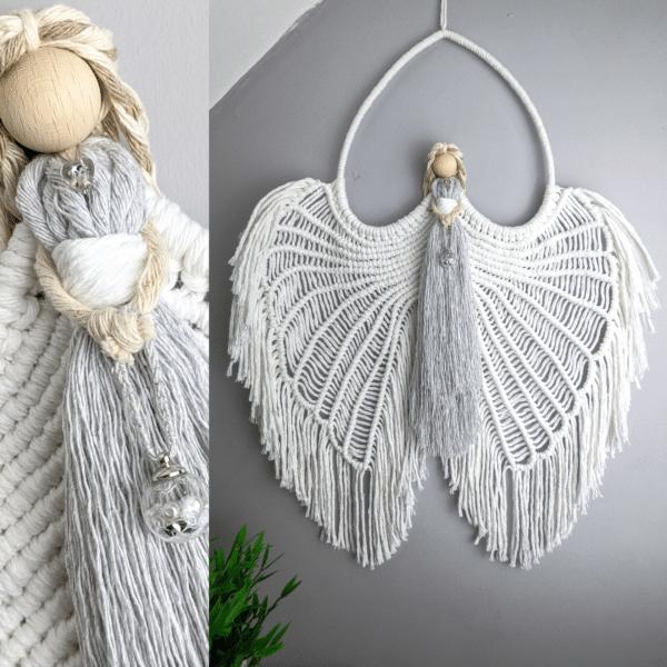 Macrame Angel wings/ Macramé/ Guardian Angel/ wall hanging/ wall decor/ Angel wings - main product image