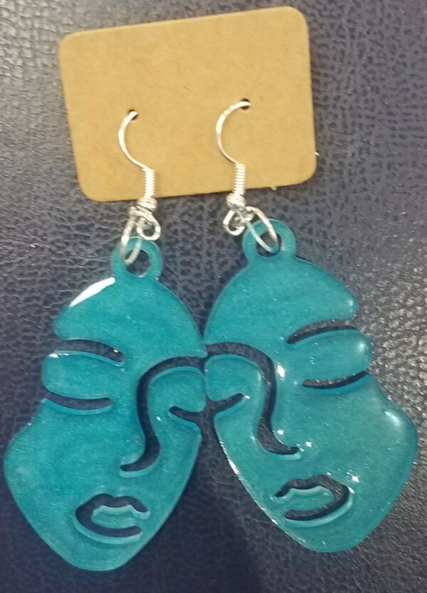 Picasso style face earrings - main product image