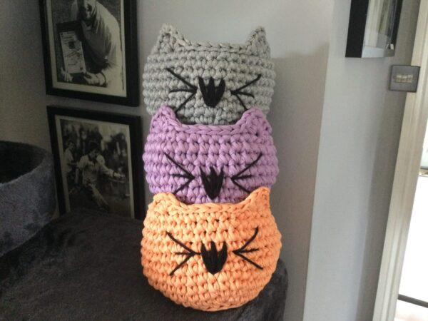 Hand Crocheted Cat Bowl - product image 6