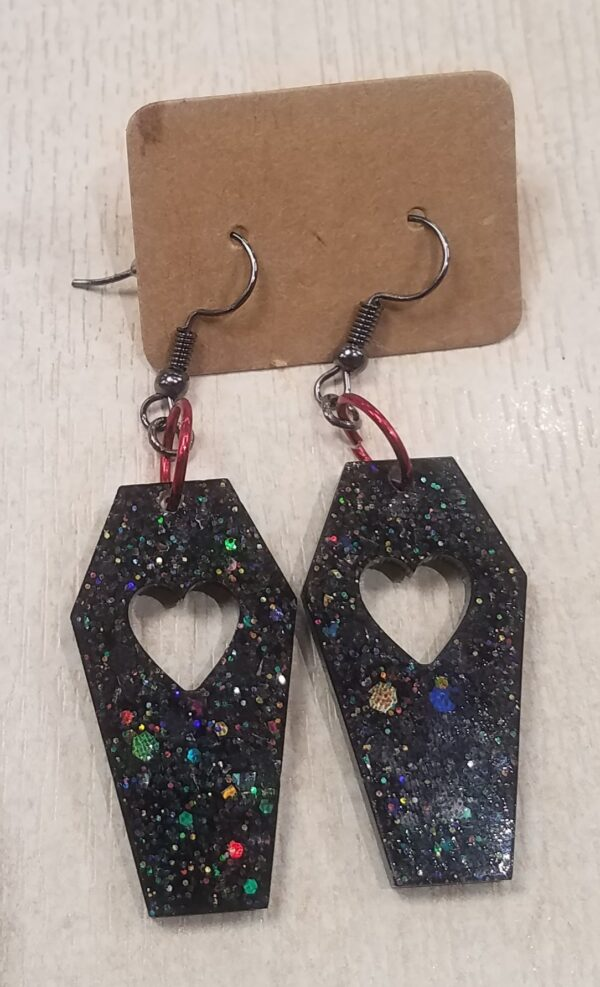 Black coffin earrings - main product image