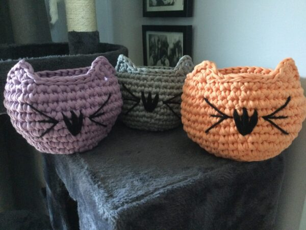 Hand Crocheted Cat Bowl - product image 2