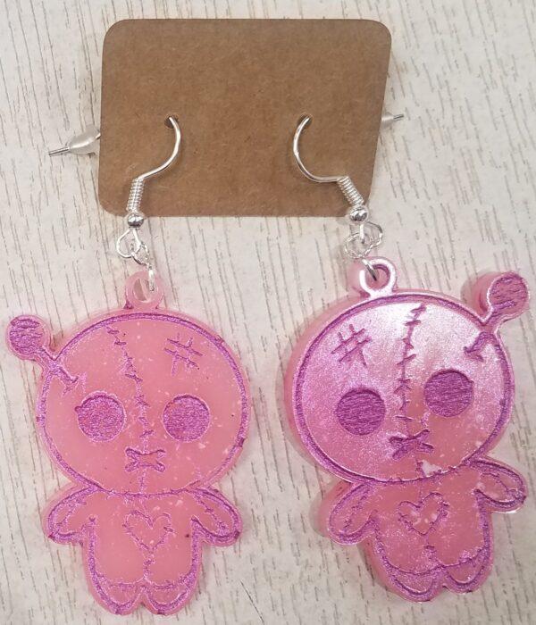 Cute voodoo doll earrings - main product image