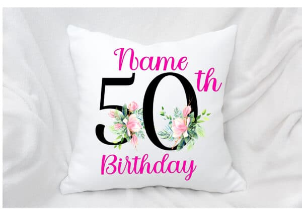 Personalised Birthday/Anniversary cushion /cover. - main product image